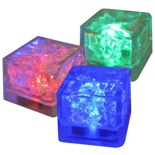 Lot 3 Glaçons LED Lumineux Deco Fun Cocktails Apero
