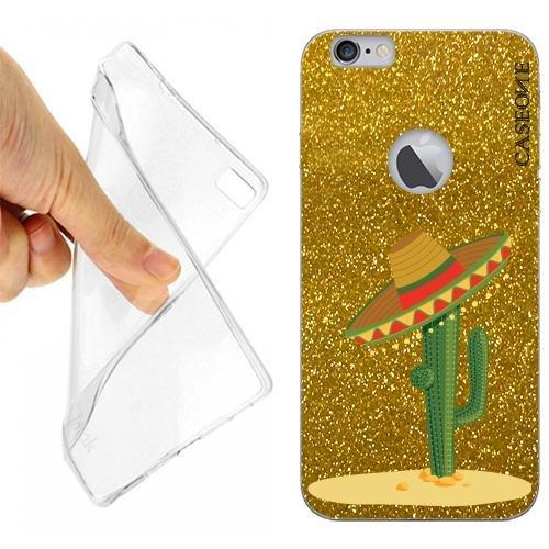 CUSTODIA Cover CASE Cactus Sombrero PER iPhone 6 Gold Glitter - Gold Sombrero