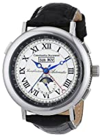 Constantin Durmont Austin - Reloj analógico de caballero automático con correa de piel negra - sumergible a 30 metros de Constantin Durmont