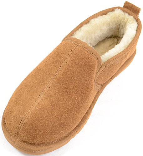SNUGRUGS Sheepskin Hard Sole - Pantofole uomo Marrone (Castagno)