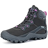 XPETI Womens Summer Hiking Shoes, Boots Outdoor Trekking Mountaineering Trainer Hiker High Rise Junoir Winter Hill Fashion Snow Grey UK Size 5