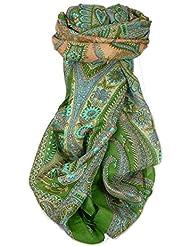 Classic Gamme Paisley Foulard Longue 100% Soie de Mûrier Motif Charan Mint de Pashmina & Silk