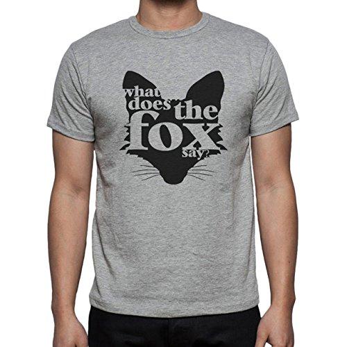 What Does The Fox Say Herren T-Shirt Grau