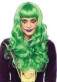 Leg Avenue A2766 - Lange gewellte Perücke, Damen Karneval Kostüm Fasching, Einheitsgröße, grün
