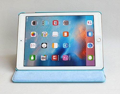 inShang iPad Pro 10.5 Custodia per Apple IPAD Pro 10.5 inch (2017) Cover case in pelle PU - La rotazione a 360 gradi bene funzionante, supporto per tenere L'iPad sollevato, magnetico per sleep e stand light blue