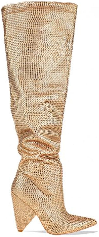 lamoda irisé wo  irisé lamoda diaFemmete embelli reste à hauteur de genou b07dvp6cxc bottes en or faux suede4 parent 8e25c1