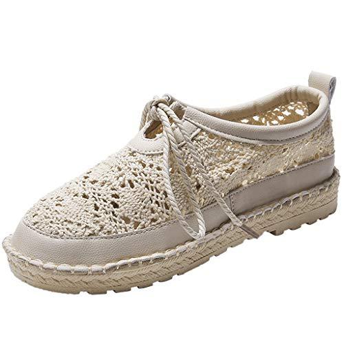 LILIHOT Damenschuhe Sommer Sandalen Mode Römische Schuhe Jugend Freizeitschuhe Nähen Mesh Spitze Sandalen Gewebte Schuhe Strandschuhe Sandalen Schuhe Mode Strand Schuhe Hausschuhe -