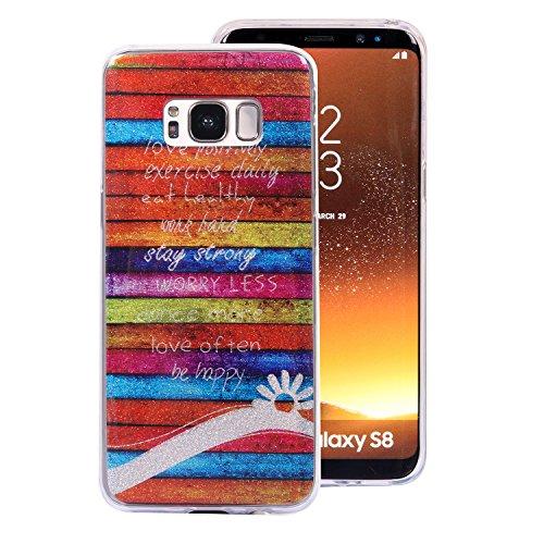 Galaxy S8 hülle, Samsung S8 Bling Bling Case, BONROY® TPU Silikon Schutz Handytasche HandyHülle Etui Schale Schutzhülle für Samsung Galaxy S8, Ultra Slim Scratch-Resistant Bumper Back cover Silikon Hülle Gemaltes (Handschuhe Galaxy Gold Metallic)