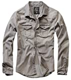Brandit Riley Denim - Camicia da Uomo Grau (Denim Denim 169) XXXXXL