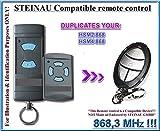 Steinau HSE2/HSM4Universal-Fernbedienung Ersatz Transmitter, kompatibel mit Steinau HSE2und HSM4Fernbedienung, 868,3MHz fixed code clone