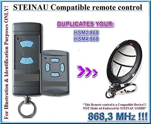Preisvergleich Produktbild STEINAU HSE2/HSM4 Kompatibel Handsender, Ersatz sender, kompatibel mit Steinau HSE2, HSE4 Handsender, 868.3Mhz fixed code, Klone