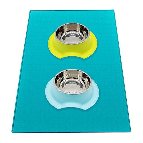 Sanzang Alfombrilla antideslizante para cuencos de comida de mascotas