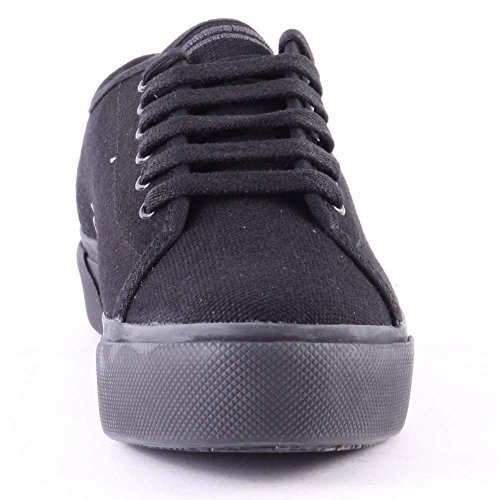 Fred Perry Phoenix Flatform Canvas Black Black