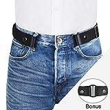 """VBIGER Cintura Senza Fibbia per Uomo Donna Cintura Elastica Invisibile per Jeans 120cm Larghezza 1.4""""Adatta da 30"""" -48"""""""