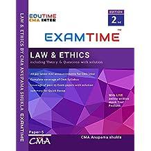 Law & Ethics for CMA INTER By CMA Anupama shukla