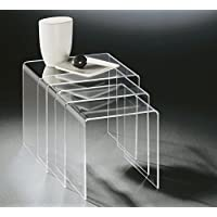 Amazoncouk Acrylic Nesting Tables Tables Home Kitchen