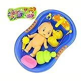 Mamum Spielzeug Baby-Dusche / Wanne Kinder, Babypuppe im Bad mit dem Zubehör Brausegarnitur Kinder gibt vor, die Rolle spielen Spielzeug