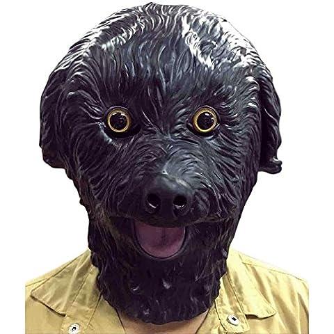 Halloween Máscara Animal Perro Hend Peluche Perro Máscara Adultos Látex Cosplay Prop