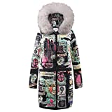 Moserian Women Winter Long Down Baumwolle Damen Parka Kapuzenmantel Steppjacke