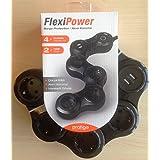 Pratigo FlexiPower Akım Korumalı 4 Priz ve 2 Usb Çoklayıcılı 1.5M Uzatma Kablolu grup Priz
