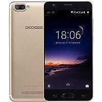 Smartphone in Offerta, DOOGEE X20 Dual SIM Telefonia Mobile con Android 7.0 - 2580mAh 3G Telefoni Cellulari - 5.0 Pollici HD Schermo - 1GB RAM+16GB ROM - 5.0MP Fotocamera Digitale - Oro