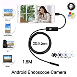 #2: HITSAN hazy beauty 5 5mm 1 5m cable waterproof endoscope camera 6 led otg usb android borescope inspection underwater fishing car pcb