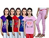 Indistar Women's T-Shirts and Trouser (S...