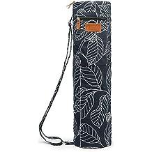 Elenture, durchgehende Reißverschluss Yoga-Matte, Tragetasche mit Multifunktions-Aufbewahrungstaschen
