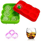 HOME CUBE Silicone BPA-free Ice Ball Maker (11.8X11.4X5cm)