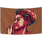 Coosun Femme africaine Portrait Tapisserie murale murale Tapis Maison Decorarion pour le salon Chambre à coucher Décoration de Dortoir, 152,4x 101,6cm, Tissu, multicolore, 90x60(in)
