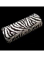 Hrph Zebra-Stripe Coussin de Repos Main Oreiller Nail Art Gel UV Manucure Soins Demi Colonne Outil d\'Ongles