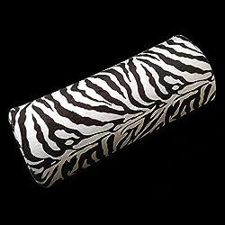 Hrph Cebra-raya de la mano almohadilla del amortiguador de gel del clavo de la manicura del arte atención mitad de Herramientas Columna de uñas UV