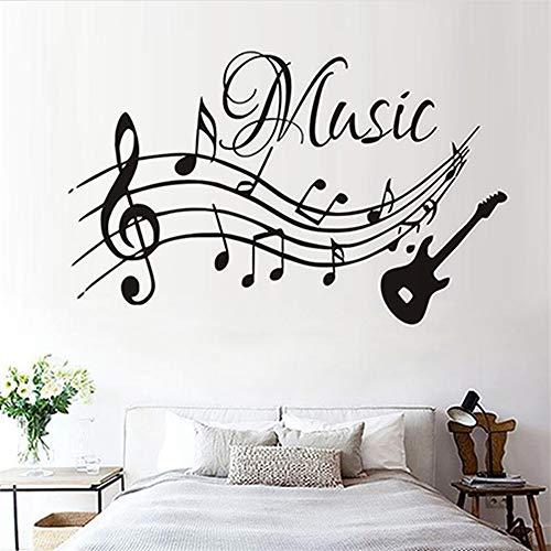 Hohe qualität musiknoten musik wandaufkleber pvc abnehmbare wohnzimmer diy kindergarten wohnkultur gitarre wandtattoos großhandel a1 59 * 37 cm (Under Armour Punisher)
