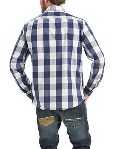 Desigual Herren Regular Fit Freizeit Hemd CAM_NOVAIN_RETRO Blau (Estado 5127)
