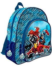 Mochila Los Vengadores Marvel Team doble bolsillo adaptable 41cm