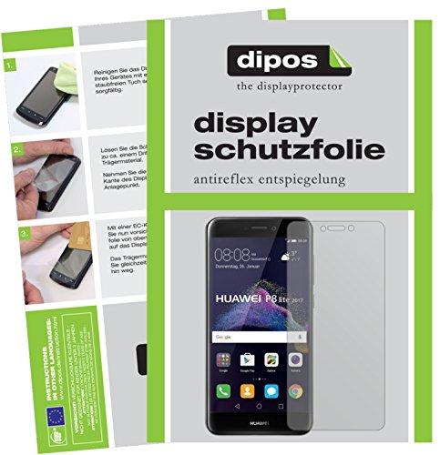 dipos I 6X Schutzfolie matt passend für Huawei P8 Lite 2017 Folie Displayschutzfolie