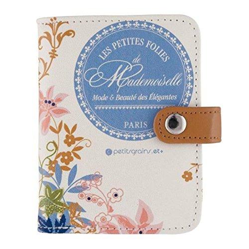 Derrière La Porte DLP - Porte-Cartes de Fidélité MADEMOISELLE PARIS Beige / Bleu Pour Fille Femme