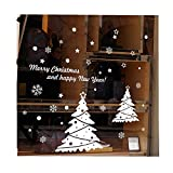 ODJOY-FAN Weihnachten Wandaufkleber Entfernbar Wandtattoos Weihnachten Schneemann Zuhause Vinyl Fenster Wand Aufkleber Abziehbild Zuhause Dekor(B,1 PC)