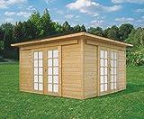 Pavillon Hedera S8506 - 28 mm Blockbohlen, Grundfläche: 12,60 m², Zeltdach