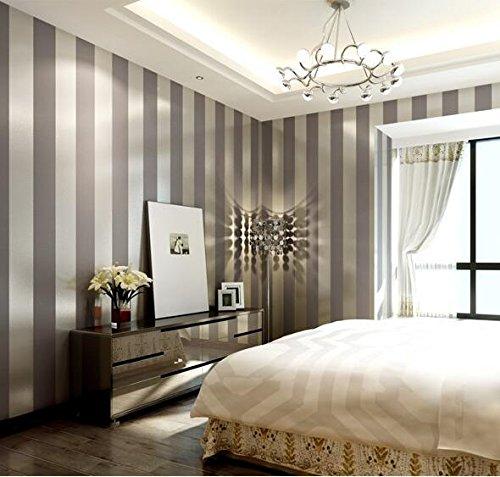 Lxpagtz carta da parati in tessuto non tessuto moderno semplice camera da letto salotto bianco e nero strisce verticali blu mediterraneo orientale parete carta da parati lungo 9.5 m * largo 0,53 m (5 m ²) , 11085