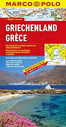 MARCO POLO Länderkarte Griechenland 1:800.000 (MARCO POLO Länderkarten) -