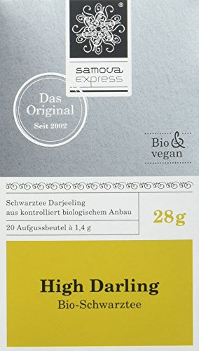 Samova High Darling Express – Bio-Darjeeling (20 Beutel  1,1g), 1er Pack (1 x 22 g)