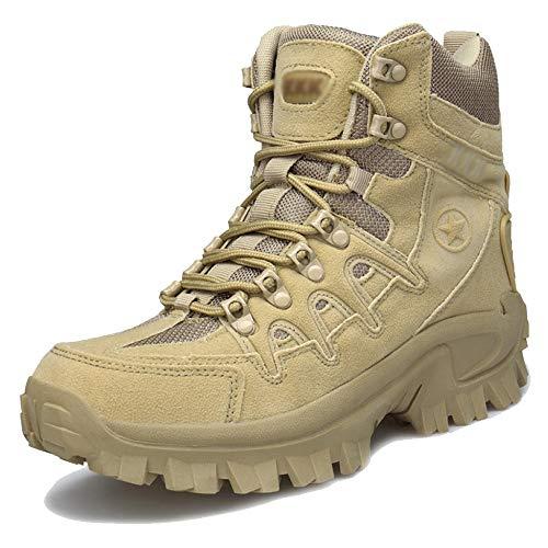 Männer Militärische Taktische Stiefel Wandern Lace-ups Wüste Armee Kampf Camping Wandern Stiefel Im Freien High Top Patrol Stiefel Schuhe,SandyColored-44