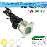 1W 12V Handlauf vertiefte LED-Scheinwerfer 70° IP67 imprägniern Balustrade Downlights ∅28mm Schnitt-Größe schmücken Beleuchtung (3000k Warmweiß)