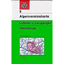 Loferer- und Leoganger Steinberge: Topographische Karte 1:25.000 (Alpenvereinskarten)
