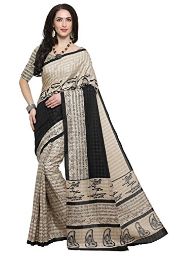 EthnicJunction Women's Kalamkari Print Palli Script Khadi Silk Saree With Blouse Piece(EJ1168-7008...