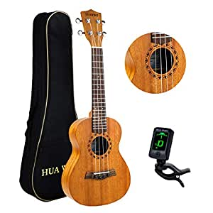 Concert Ukulele For Beginners 23 inch 4 String Mahogany