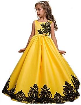 Eudolah Blumenmaedchen Taft und Spitze Kleid Kinder Maedchen Kleid festlich Party Kleid Festzug Hochzeit