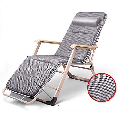 LVLUOYE Fauteuil Relax,Chaise à Bascule Pliante de Loisirs, lit Simple Bureau, Chaise Longue Adulte, adapté à l'extérieur, Salon, Jardin (Couleur: A1) -B2