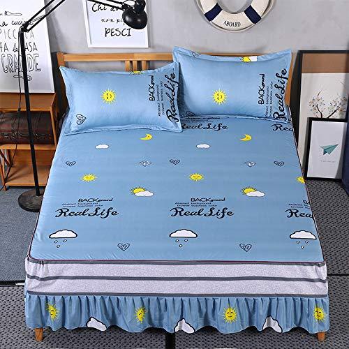 huyiming Verwendet für Bettdecke Bett Rock Bett gesetzt Einteilige Prinzessin Bettdecke Blätter 1,8/1,5/2,0 m 1,8x2,0 m